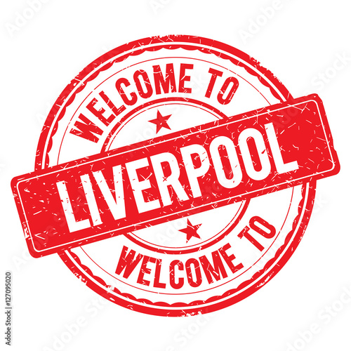 Poster Welcome to LIVERPOOL Stamp.