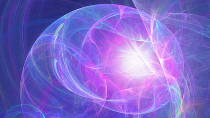 Fraktal abstrakt sphärisch bunt Kunst