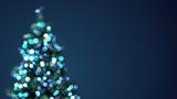 Fototapety blurred christmas tree blue lights