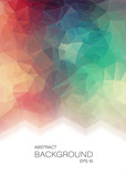 Fototapety Vertical Abstract 2D geometric colorful background