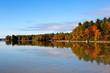 Fall Tree Reflections Lake Sabago Maine