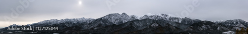 Panorama of Polish Tatra mountains