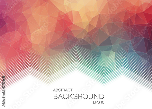 Fotobehang Geometrische Achtergrond Horizontal Abstract 2D geometric colorful background