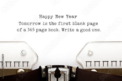 New Year Quote Typewriter Plakat