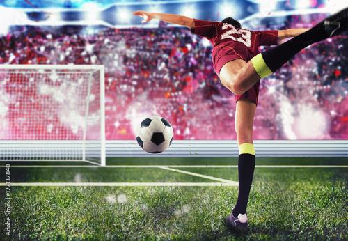 Soccer player goal