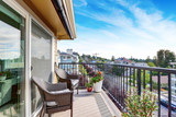 Apartment house exterior in Seattle. Balcony view. - 127154642