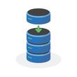 Data storage icon with add base storage, ESP10