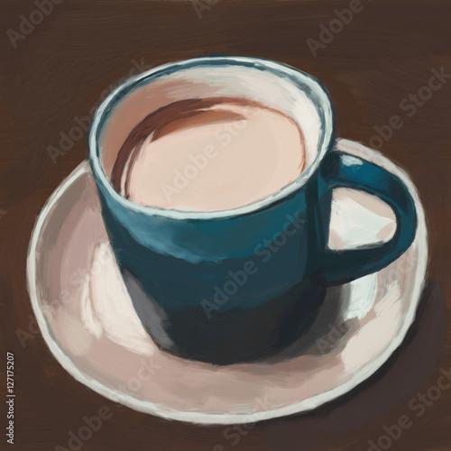 coffee cup, digital painting - 127175207