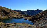 Mountain lake in Romania near transfagarasan