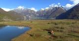 Aerial 4k - Riserva Naturale di Pian di Spagna - Lago di Novate Mezzola - Valchiavenna (IT)