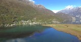 Aerial 4k - Riserva Naturale di Pian di Spagna - Lago di Novate Mezzola - Valchiavenna (IT) - Panning