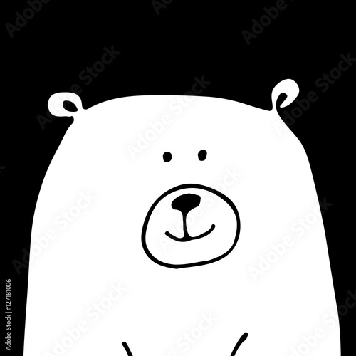 White bear, sketch for your design © Kudryashka