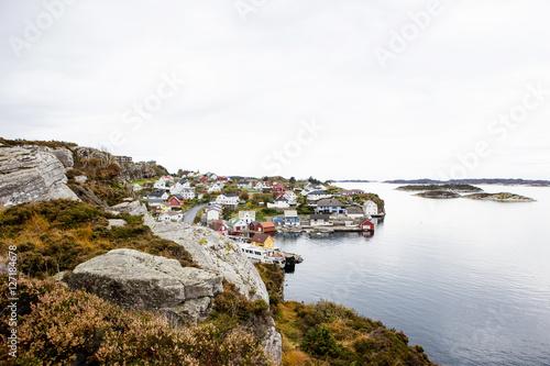 Poster Scandinavia fishing village