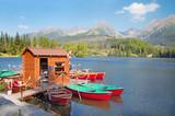 STRBSKE PLESO, SLOVAKIA - SEPTEMBER 12, 2016: High Tatras - Strbske Pleso lake.