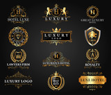 Great Luxury Set, Royal and Elegant Logo Vector Design - 127193090