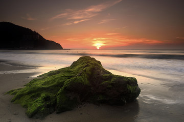 Fototapeta zachód słońca w Bakio Hiszpania