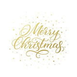Merry Christmas calligraphic greeting card - 127198237