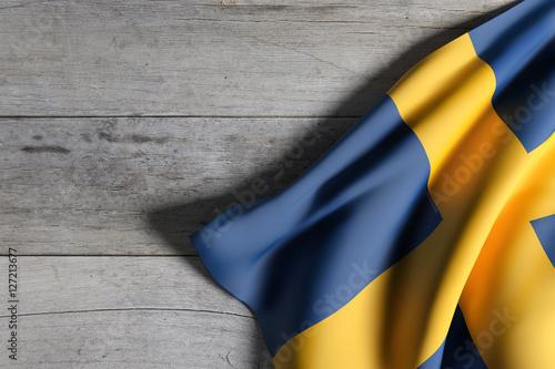 Foto op Canvas Stockholm Kingdom of Sweden flag