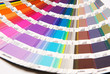 Opened Pantone color chart