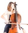 Junge Cellistin