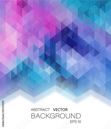 Fotobehang Geometrische Achtergrond Abstract vector geometric colorful background