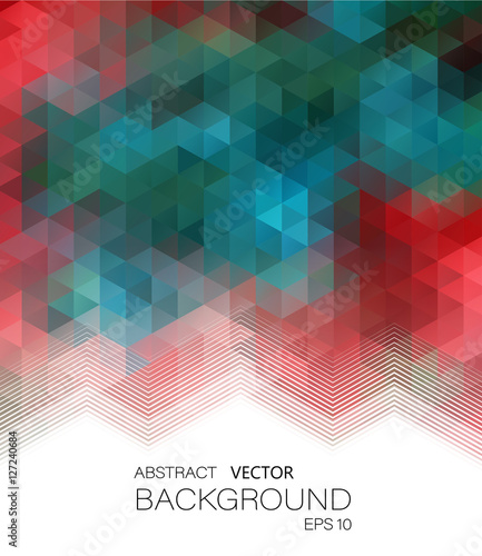 Fotobehang Geometrische Achtergrond Vector Illustration. Abstract geometric colorful background