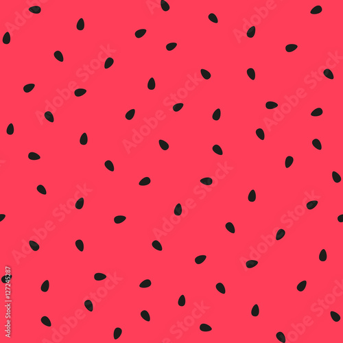 Vector watermelon background with black seeds. - 127245287