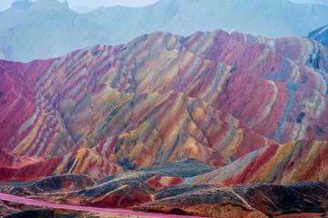 Rainbow mountains, Zhangye Danxia geopark, China © dinozzaver