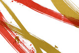 筆で描いた線と点 和風背景素材  - 127252835