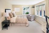 Fototapety decorated beige Bedroom.