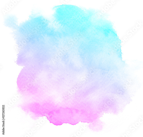Abstract pink watercolor on white background.This is watercolor splash.It is drawn by hand. - 127263832