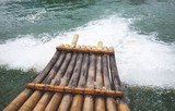 bamboo boat on the river