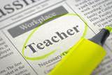 Teacher Wanted. Job Seeking Concept. 3D.