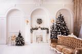 Traditional Xmas scene. Winter decoration
