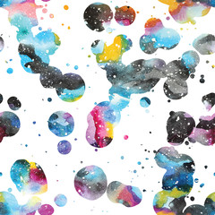 Watercolor galaxy background.