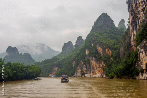 Boat cruise on Li river, Guangxi Zhuang, China