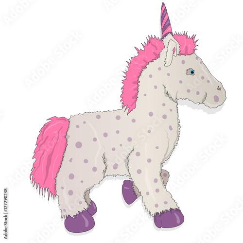 Poster Pony Unicorn. Vector illustration