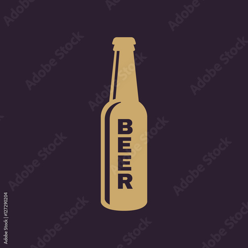 Bottle of beer icon Poster