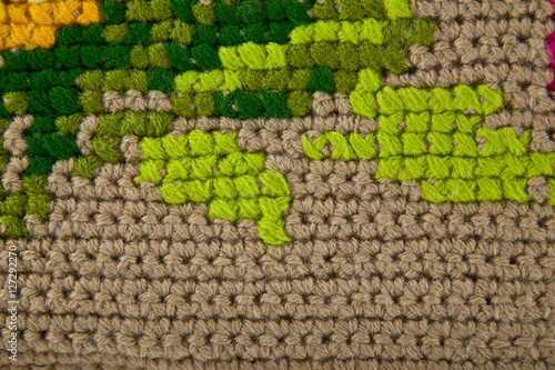 Poster color knitted texture