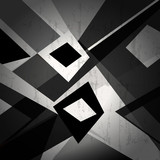 abstract geometric background, black and white, grungy