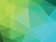 geometric green blue low poly background