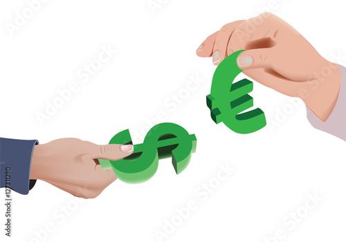 Scambio Di Valuta Dollaro Euro