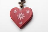 Corazón rojo  de Navidad