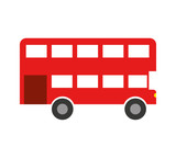 london bus isolated icon vector illustration design