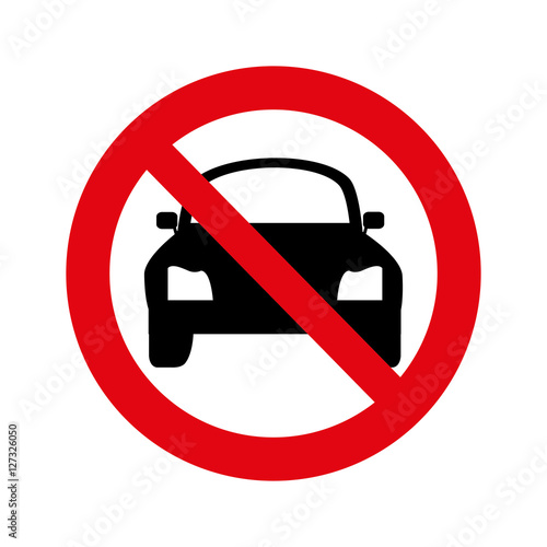 dont parking signal icon vector illustration design