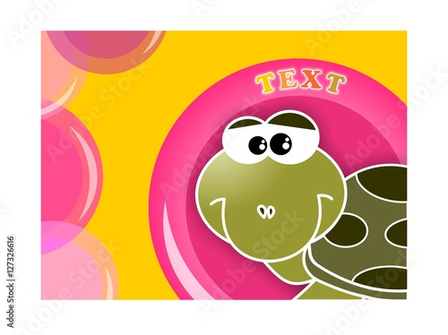 Foto op Plexiglas Magnolia Tartaruga buffa