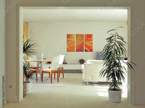 Durchgang zum Wohnzimmer Interior Poster