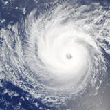 Huge hurricane over Pacific Ocean. Satellite photo. - Fine Art prints