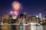Fototapety Firework over Manhattan island, New York