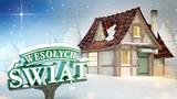 Wesołych Świąt - napis i chatka